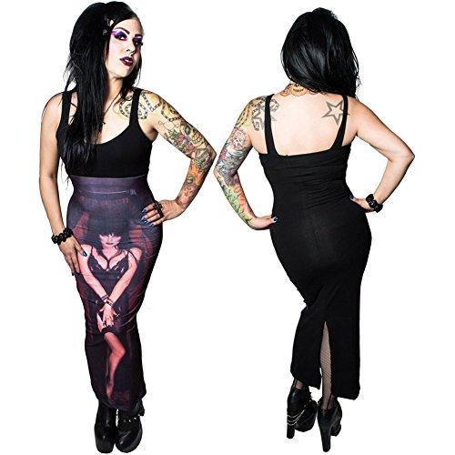 Women's Kreepsville Elvira Coffin Maxi Dress M -
