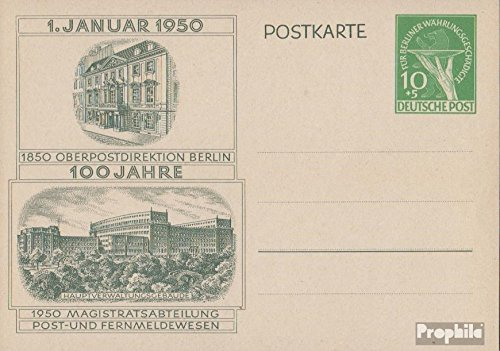 Berlin (West) P22 Official Postcard 1950 Hand with Bowl (documents philatelic Covers for - 1950's Postcard