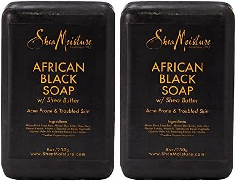 Shea Moisture African Black Soap Bar 8.0 Once. Pack Of 2