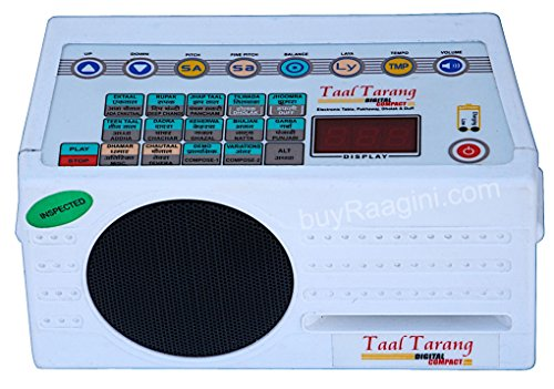 Electronic Tabla - Taal Tarang Digital COMPACT Tabla, In USA, Electronic Tabla Drum Kit by Sound Labs, Tabla Sampler DJ Machine, With Bag, Instruction Manual, Power Cord (GSB-DH)