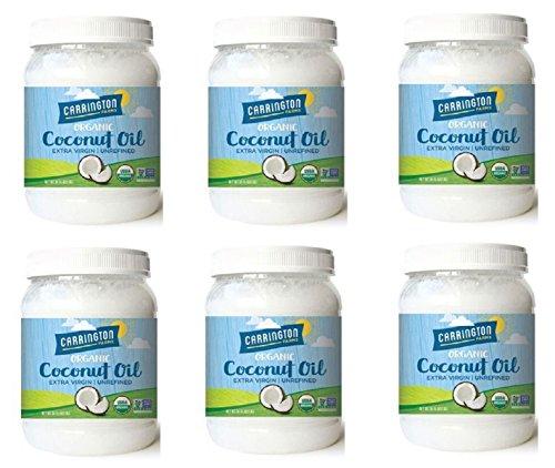 Carrington Farms Organic Extra Virgin Coconut Oil, 54 Ounce, 6 Pack by Carrington Farms (Image #2)