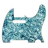 D'Andrea Pro Tele Guitar Pickguard, Aqua Pearl