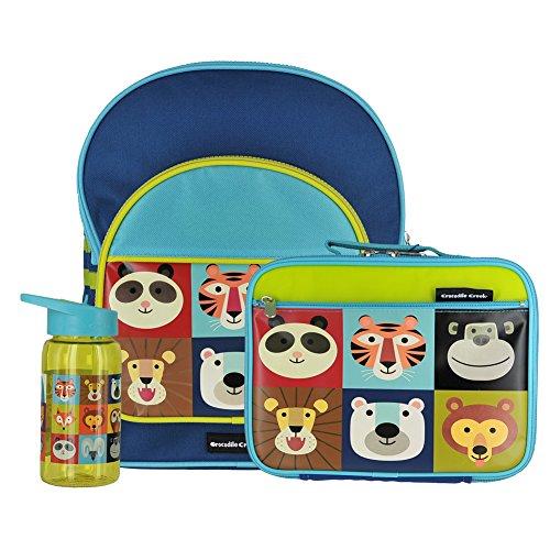 Crocodile Creek Jungle Jamboree Backpack,Lunchbox & Drinking Bottle Bundle (3 items)