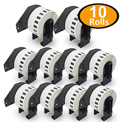 (BETCKEY - 10 Rolls Compatible Brother DK-2211 1-1/7
