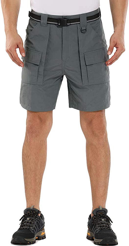 Toomett Men's Quick Dry Shorts for Hiking, Camping, Travel Casual Active Relaxed Cropped Bermuda Shorts