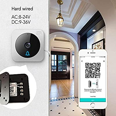 NETVUE Vuebell Wireless Video Doorbell, 2.4G WiFi Security Camera Doorbell With 2-Way Talk, Motion Detection, Night Vision Works with Alexa Echo Show