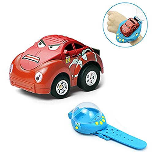 Shopline Remote Control Car Toy, Gravity Sensor Mini Racer Wristband Concept Car Toy with USB Charge for Kids Children Hobbyist (Red)