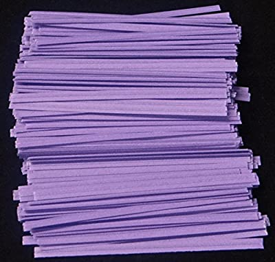 "Lavender Paper Twist Ties 100 Count 3 1/2"" Length Candy Making Supplies"
