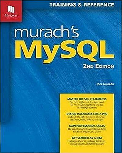 Murach S Mysql 2nd Edition Joel Murach 9781890774820 Amazon Com