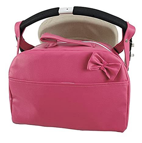 Bolso Lactancia Polipiel carro bandolera. Color Fucsia: Amazon.es: Bebé
