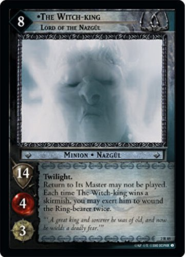 LOTR TCG MOM MINES OF MORIA FOIL THE WITCH-KING LORD OF THE NAZGUL (Nazgul Witch King)