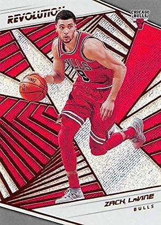 453535f18 Amazon.com  2018-19 Panini Revolution Basketball  54 Zach LaVine Chicago  Bulls Official NBA Trading Card By Panini  Collectibles   Fine Art