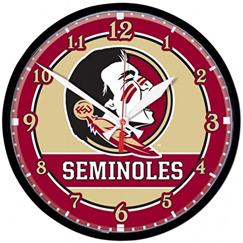 NCAA Florida State Seminoles WinCraft Official Round Clock
