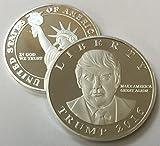 Donald Trump 2016 Silver Plated Presidential Liberty Replica Coin