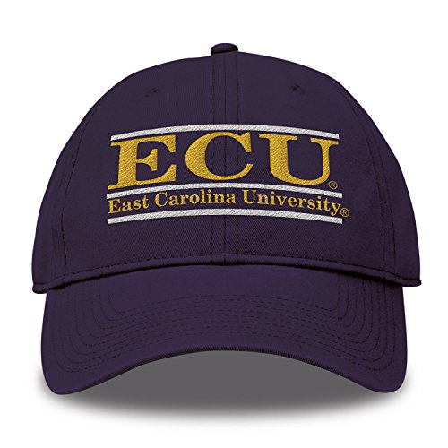 The Game NCAA East Carolina Pirates Bar Design Twill Hat, Purple, Adjustable