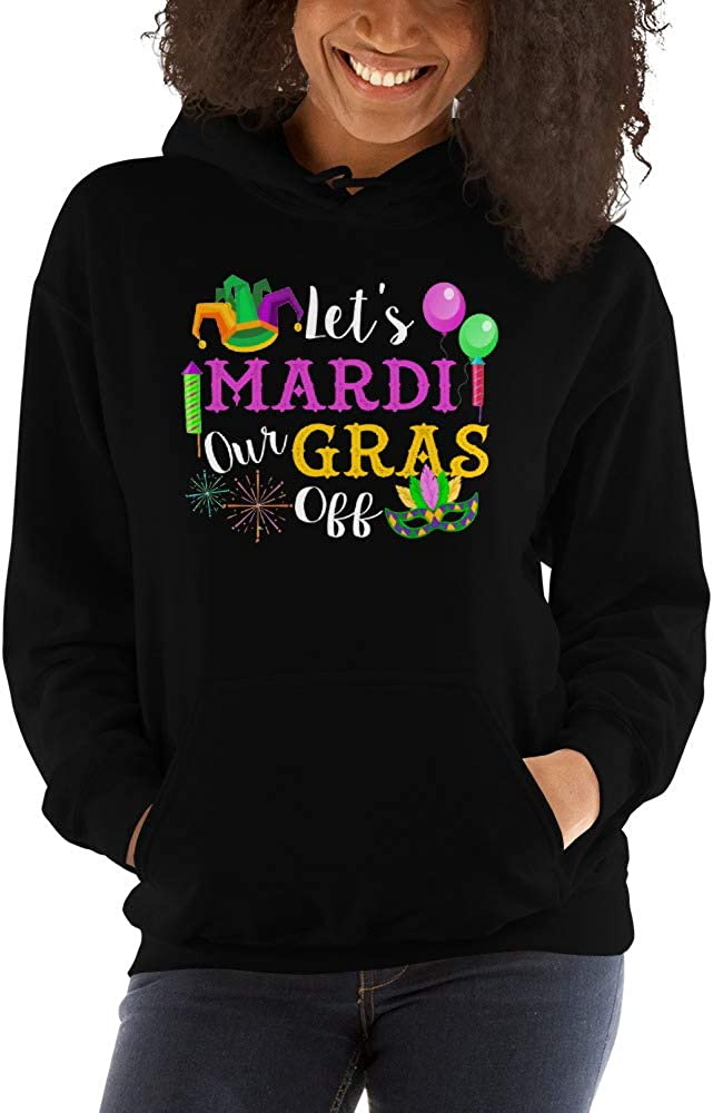 Lets Mardi Gras Off Beads Pun Funny Carnival Drinking Team Unisex Hoodie