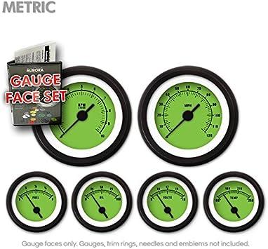 Aurora Instruments GARFM58 Rider Green Gauge Face Set