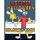 Monster Halloween Coloring Book (Lucky Cat Coloring Books) (Volume 3)