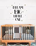Dream Big Little One Quote Lettering Wall Decal- by Simple Shapes
