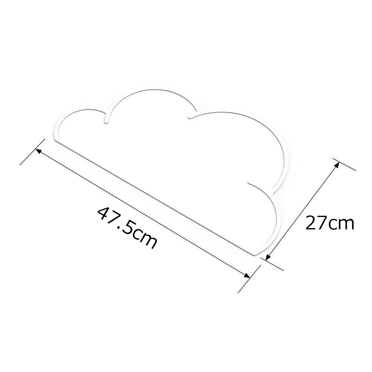 gray Silicone Baby Place mat Insulation Pad Cloud Mat Kids Baby Kitchen Dining Table