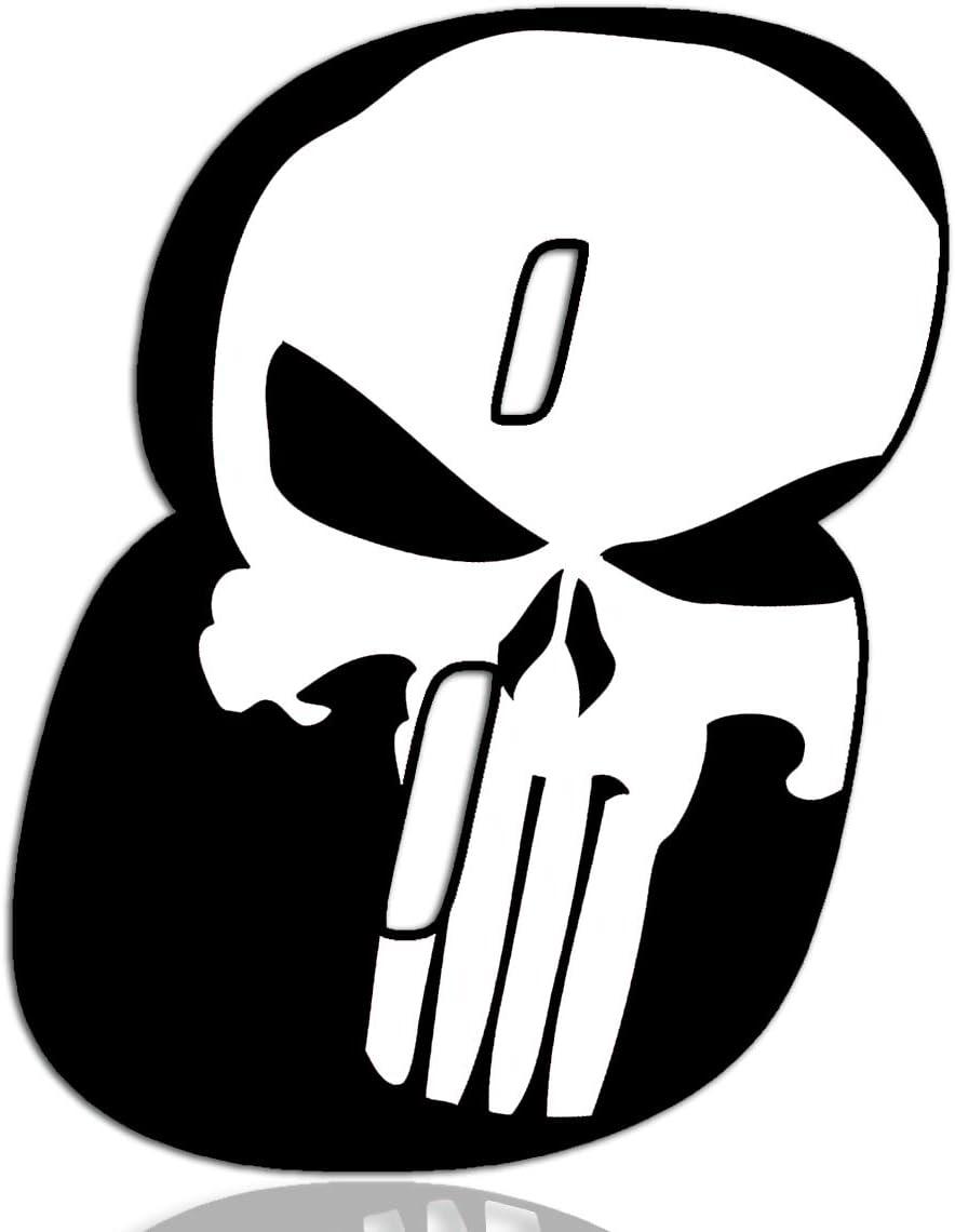 Biomar Labs® Número 8 Punisher Calavera Vinilo Adhesivo Pegatina Coche Auto Motocross Moto Sport Start Racing Tuning N 368: Amazon.es: Coche y moto