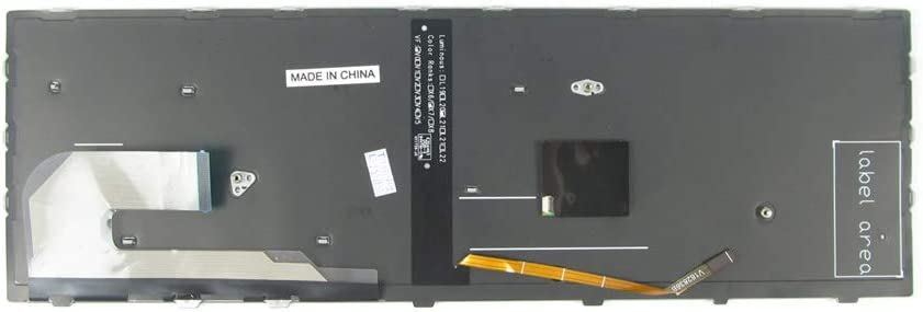 Backlit New Keyboard for HP EliteBook 755 G5 850 G5 6037b0136601 V162826DS1 6037B0136101 HPM17B73USJ9301 HPM17B7 with Silver Frame Point US