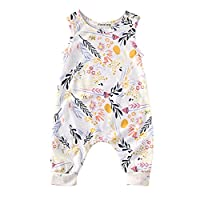Baby Girl Sleeveless Sweet Floral Jumpers Rompers Bodysuit Playsuit Outfits (...