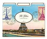 Cavallini File Folders Eiffel Tower, 12 Heavyweight File Folders per Set