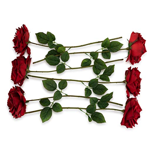 6 Artificial Red Roses, 6