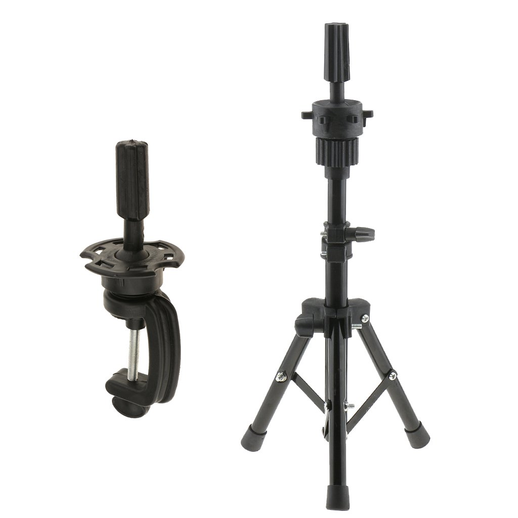 B Blesiya 24 Canvas Mannequin Head for Wigs Hat Making Display Holder W//Tripod Stand