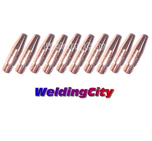 WeldingCity 10-pk Tapered Contact Tip 11T-45 for Lincoln Magnum Tweco Mini/#1 MIG Welding Guns