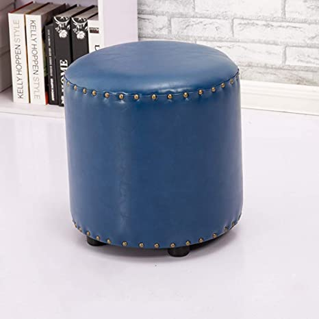 Magnificent Amazon Com Funlea Vintage Round Oil Wax Leather Sofa Stool Caraccident5 Cool Chair Designs And Ideas Caraccident5Info