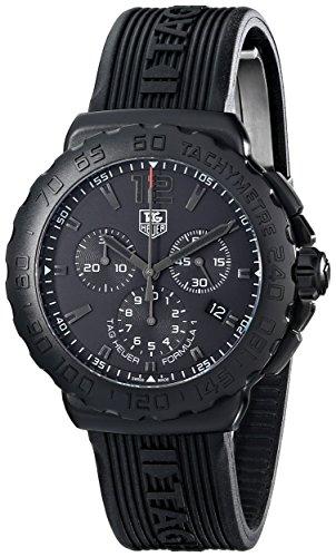 (Tag Heuer Men's 'Formula 1' Black Dial Black Rubber Strap Chronograph  Watch CAU1114.FT6024)