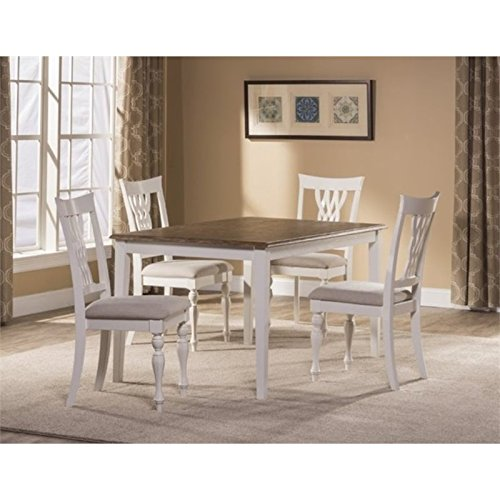 Bowery Hill 5 Piece Dining Set in White