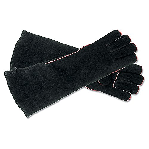 Minuteman Hearth (Minuteman International Long  Fireplace Hearth Barbeque Gloves, Black)