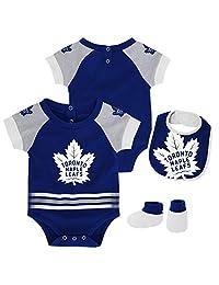 Toronto Maple Leafs Newborn Blocker Creeper, Bib & Booties Set
