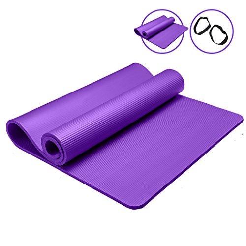 Tapis de yoga, tapis de fitness débutant Widen Thicken Tapis de fitness antidérapant étendu ( Couleur : #1 , taille : 15MM )