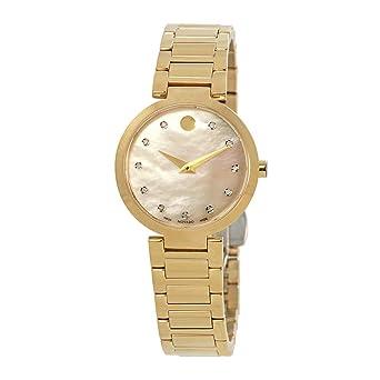 Movado - Reloj clásico moderno con esfera de diamante de nácar para mujer 0607105: Amazon.es: Relojes