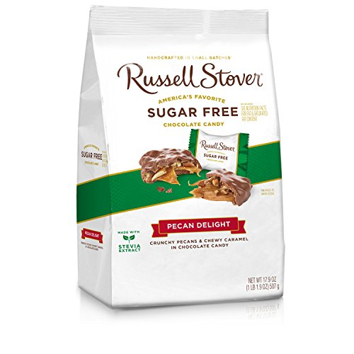 - Russell Stover Sugar Free Pecan Delight Gusset, 17.9 Ounce Bag, 4 Count