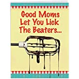 Funny 'Lick Beaters Birthday Mother' Happy Birthday Card with Envelope (Big 8.5 x 11 Inch) - Birthday Greeting Card for Mothers w/ a Beater and Chocolate Drippings - Stationery Bday Notecard J9866BMG