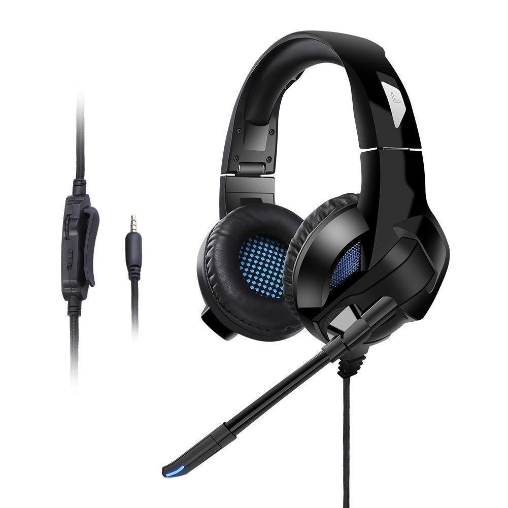Ceppekyy Gaming Headset Foldable, Noise Canceling Stereo Bass Surround Gaming Headphone with Microphone&Control for PS4, Xbox One, Nintendo Switch, 3.5mm Pin for Smart Phone, Laptops, Tablet, Computer by Ceppekyy