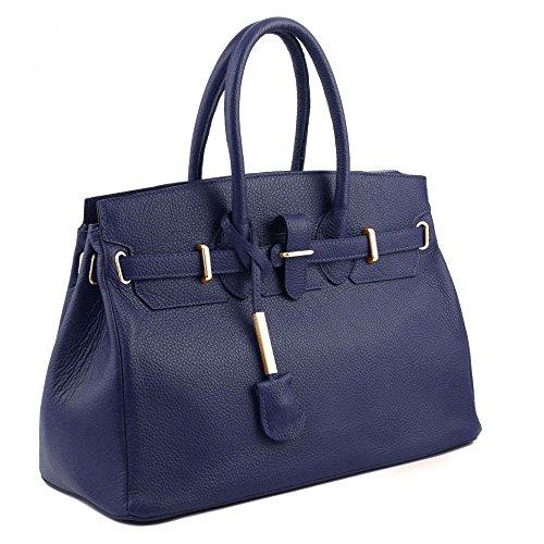 TUSCANY LEATHER TL141529, Borsa a mano donna Blu blu compact