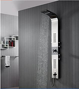 GOWE columna de ducha panel de cascada ducha de lluvia Bañera ...