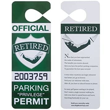 Loftus MG 0008 Retired Parking Permit