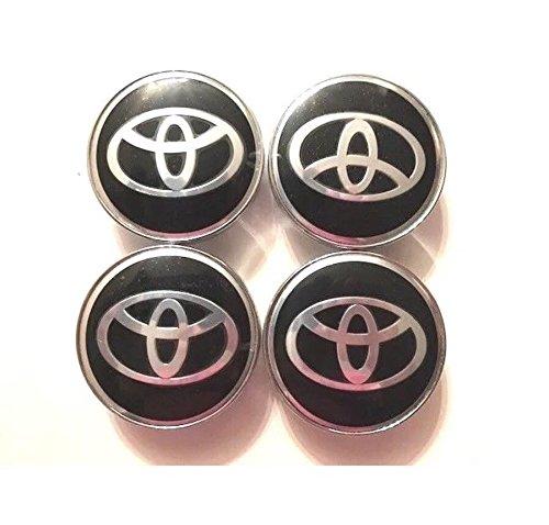 4 PCS 62mm Wheel Rim Center Hub Caps Cover Badge Insert Emblem For Toyota Black