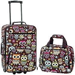 Rockland 2 Piece Luggage Set, Owl, One Size