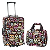 Rockland 2 Piece Luggage Set, Owl, One Size