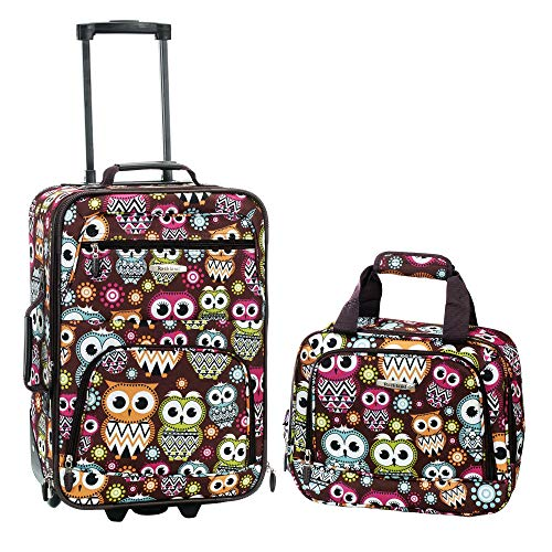 Rockland 2 Piece Luggage Set, Owl, One - Luggage Cute