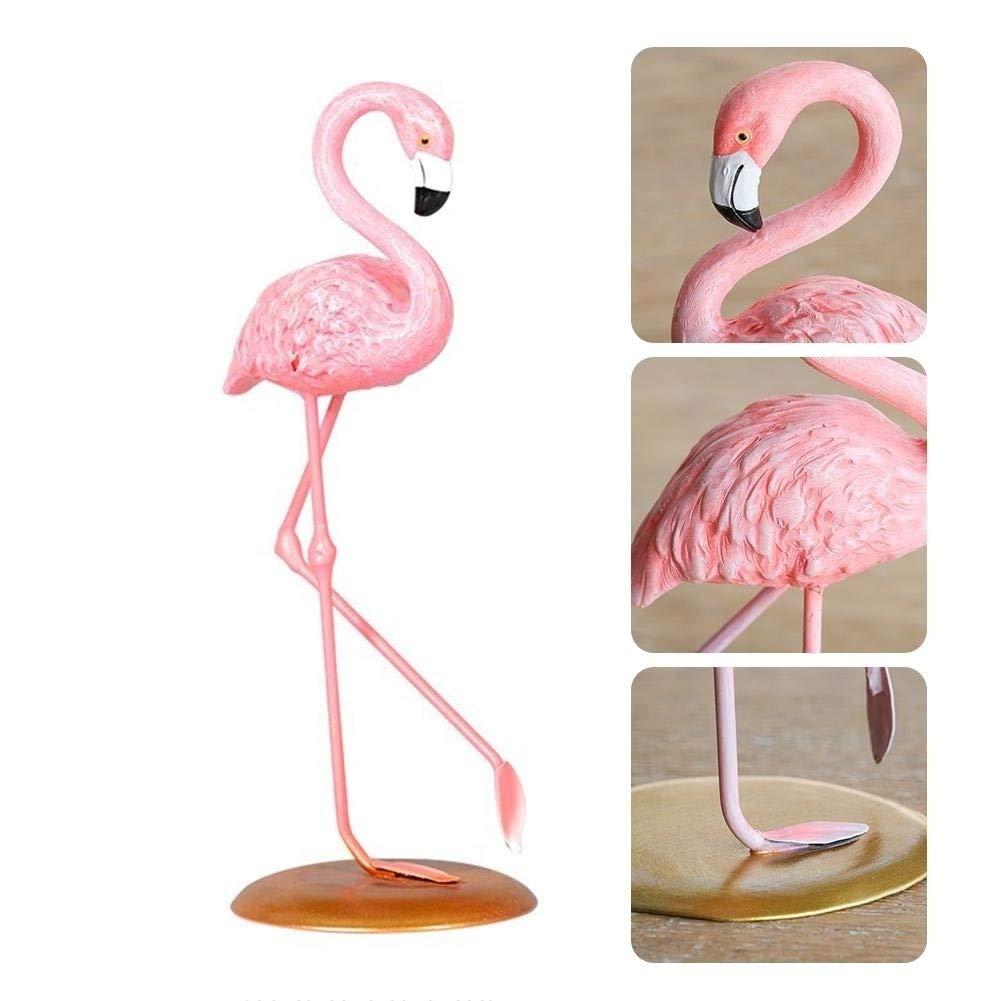 a Mallalah Flamenco Decoration Figura Resina Flamingo Adorno Figura Artesan/ía de Arte Regalo Mujer ni/ña para casa Noche Escritorio Mesa de Noche Dormitorio sal/ón