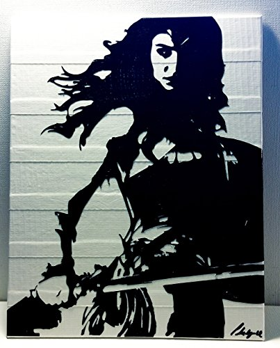 Duct Tape and Vinyl Art Piece of Wonder Woman -